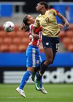 Hayley Brock (USA) heads the ball..FIFA U17 Women's World Cup, Paraguay v USA, Waikato Stadium, Hamilton, New Zealand, Sunday 2 November 2008. Photo: Renee McKay/PHOTOSPORT