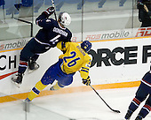 Team USA defeated Team Sweden 5-2 in the semi-final on Sunday, January 3, 2010, at the Credit Union Centre in Saskatoon, Saskatchewan, during the 2010 World Juniors tournament.