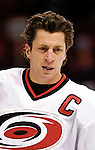 6 February 2007: Carolina Hurricanes center and team captain Rod Brind'Amour warms up prior to facing the Montreal Canadiens at the Bell Centre in Montreal, Canada. ....Mandatory Photo Credit: Ed Wolfstein Photo *** Editorial Sales through Icon Sports Media *** www.iconsportsmedia.com