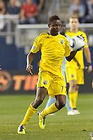 Emmanuel Ekpo (17) midfielder Columbus Crew in action... Sporting Kansas City defeated Columbus Crew 2-1 at LIVESTRONG Sporting Park, Kansas City, Kansas.