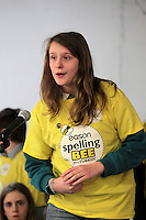 NO FEE PICTURES.8/3/12 Lauren Fagan, The Burran NS, Sutton, taking part in the Dublin County final, part of the overall Eason 2012 Spelling Bee, held at St Olaf's NS, Dundrum. .For further details visit www.easons.com/spellingbee and stay tuned to RTE 2fm. Picture:Arthur Carron/Collins