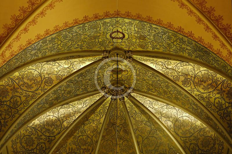 Canada, Montreal, Saint Patricks Basilica, ceiling