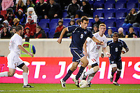 Dylan Renna (9) of the Villanova Wildcats. St. John's defeated Villanova 2-0 during the second semifinal match of the Big East Men's Soccer Championships at Red Bull Arena in Harrison, NJ, on November 11, 2011.