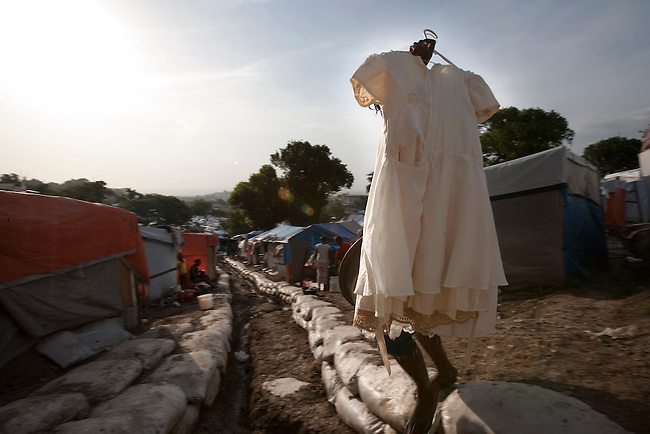 The makeshift refugee camp, JP HRO, run by the movie actor Sean Penn in Port-au-Prince, Haiti on July 19, 2010.<br /> The camp is estimated to have over 55,000 refugees. <br /> Six month after a catastrophic earthquake measuring 7.3 on the Richter scale hit Haiti on January 13, 2010, killing an estimated 230,000 people, injuring an estimated 300,000 and making homeless an estimated 1,000,000.