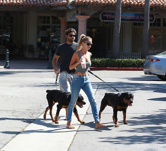 August 31 2014 Malibu California Brody Jenner and Katilyn Carter walking their dogs at Cross Creak Malibu Mall John Misa / MediaPunch