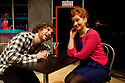 """London, UK. 11/11/2011. """"EX"""", a new musical, opens at the Soho theatre. A Two's Company and Soho Theatre production, written by Rob Young, music by Ross Lorraine and directed by Tricia Thorns. Picture shows Gerard Carey (as Jack) and Amy Booth-Steel (as Ruby). Photo credit: Jane Hobson"""