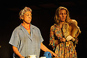 London, UK. 05.01.2016. Two Shed Theatre's AFRICAN GOTHIC, by Reza de Wet, directed by Roger Mortimer and Deborah Edgington, opens at Park Theatre. Picture shows: Lesley Ewen (Alina),  Janna Fox (Sussie). Photograph © Jane Hobson.