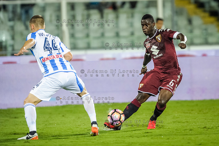 Acquah Afriyie (Torino) during the Italian Serie A football match Pescara vs Torino on September 21, 2016, in Pescara, Italy. Photo di Adamo Di Loreto/BuenaVista*photo