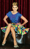 ***NO REPRODUCTION FEE PICTURE***.01/02/12  Model Sarah Morrissey wears a printed Skater Skirt at EUR35 and a blue Animal Print Top at EUR35 pictured at the Morrison Hotel, Dublin this morning at the launch of the A Wear Spring Collection 2012...Picture Colin Keegan, Collins, Dublin. .***NO REPRODUCTION FEE PICTURE***