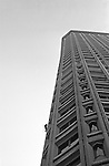 The human fly climbs the Federal Building in downtown Seattle Washington State USA