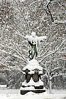 Jan. 1, 2008; Sacred Heart Jesus statue covered in snow...Photo by Matt Cashore..