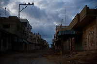 Rafah, Gaza strip, Jan 11, 2009.A large part of Rafah close to the Egyptian border is left empty and looks like a ghost town as it is constantly pounded by the Israeli air force. Thousands of inhabitants fled to less exposed parts of the city, eventhough nowhere is safe.