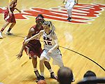Ole Miss' Gracie Frizzell (12) vs. Alabama's Alicia Mitcham (32) in NCAA women's basketball action in Oxford, Miss. on Sunday, January 13, 2013.  Alabama won 83-75.