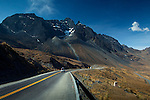 The jagged peaks of the Andes provide incredible scenery on the highway thru the La Cumbre Pass which sits at an elevation of over 15,000 feet.  The La Cumbre provides access from La Paz to the rainforest in the north of Bolivia.