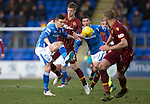 St Johnstone v Motherwell&hellip;20.02.16   SPFL   McDiarmid Park, Perth<br />Graham Cummins and Ben Hall<br />Picture by Graeme Hart.<br />Copyright Perthshire Picture Agency<br />Tel: 01738 623350  Mobile: 07990 594431