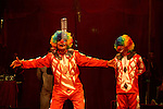 Members of the Egyptian National Circus practice in Gaza City on Oct. 30, 2012. The circus came to Gaza on Friday, accompanied by blaring music, juggling clowns and fire blowers but getting it there required its own high-wire act. No women performers were included for fear of offending conservative Palestinians and the Gaza Strip's militant Hamas rulers, and the circus' lone lion and tiger were left behind because of the high cost of transporting them legally into Gaza. Photo by Ashraf Amra