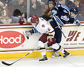 Patrick Wey (BC - 6), Ryan Hegarty (Maine - 44) - The Boston College Eagles defeated the visiting University of Maine Black Bears 4-0 on Friday, November 19, 2010, at Conte Forum in Chestnut Hill, Massachusetts.