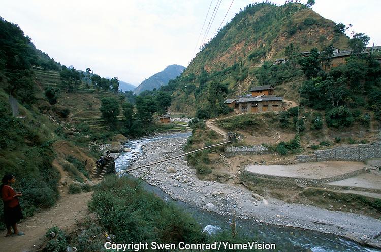 The Sulichour bridge, Rolpa District, Nepal