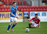 St Johnstone Academy v Manchester Utd Academy&hellip;.06.05.16  McDiarmid Park, Perth<br />Gavin Brown<br />Picture by Graeme Hart.<br />Copyright Perthshire Picture Agency<br />Tel: 01738 623350  Mobile: 07990 594431