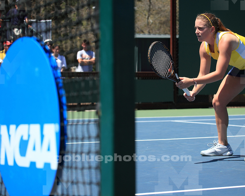 University of Michigan women's tennis 4-2 loss to #7 Miami in the 2011 NCAA National Team Championships in Palo Alto, CA, on May 20, 2011.