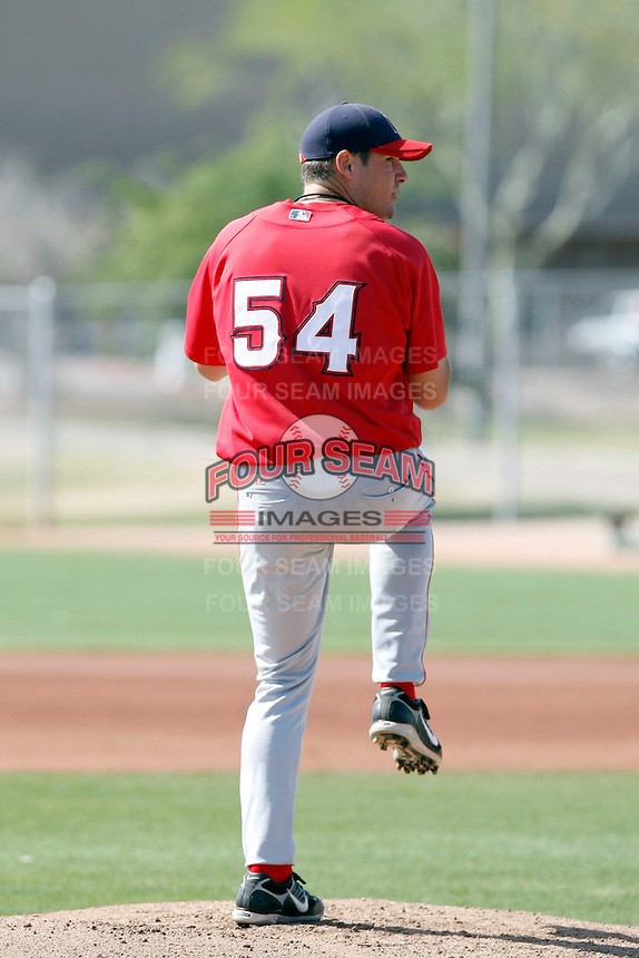 Tyler Kehrer, Los Angeles Angels 2010 minor league spring training..Photo by:  Bill Mitchell/Four Seam Images.