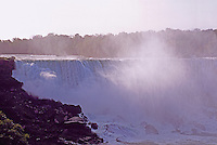 Niagara Falls ('American Falls') and the Niagara River, in the City of Buffalo, New York, USA