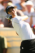 March 26, 2005; Rancho Mirage, CA, USA;  15 year old amateur Michelle Wie tees off at the 1st hole during the 3rd round of the LPGA Kraft Nabisco golf tournament held at Mission Hills Country Club.  Wie shot a 1 over par 73 for the day and was tied for 21st at one over par 217.<br />