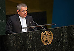 Iran<br /> <br /> General Assembly 70th session 32nd plenary meeting<br /> Report of the Secretary-General on the work of the Organization: report of the Secretary-General (A/70/1) [item 109]