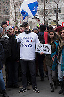 Montreal,CANADA, April 2, 1015.<br /> <br /> Thousands of people including unions and students protested the Quebec government&rsquo;s austerity measures in Montreal Thursday april 2nd.<br /> <br /> <br /> PHOTO : Philippe Manh Nguyen - Quebec Presse