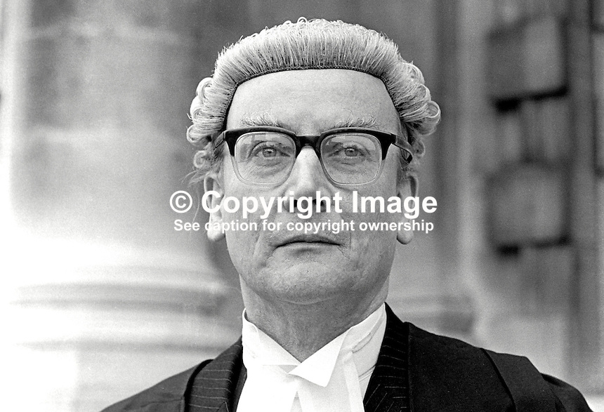 Eric William Hunter Christie, barrister, N Ireland, UK, 197505000268b.<br /> <br /> Copyright Image from Victor Patterson, 54 Dorchester Park, Belfast, UK, BT9 6RJ<br /> <br /> t1: +44 28 9066 1296 (from Rep of Ireland 048 9066 1296)<br /> t2: +44 28 9002 2446 (from Rep of Ireland 048 9002 2446)<br /> m: +44 7802 353836<br /> <br /> e1: victorpatterson@me.com<br /> e2: victorpatterson@gmail.com<br /> <br /> The use of my copyright images is subject to my Terms &amp; Conditions.<br /> <br /> It is IMPORTANT that you familiarise yourself with them. They are available on my website at www.victorpatterson.com.<br /> <br /> None of my copyright images may be used on a website unless they are visibly watermarked, i.e. &copy; Victor Patterson within the body of the visible image. Metadata denoting my copyright must NOT be deleted. <br /> <br /> Web use is extra at currently recommended NUJ rates.