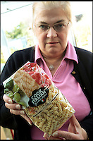 BNPS.co.uk (01202 558833)<br /> Pic: SallyAdams/BNPS<br /> <br /> ***Please use full byline***<br /> <br /> Mary Randall with the dried pasta from Tesco in Salisbury which had dozens of weevils crawling around in it.<br /> <br /> <br /> Fears have been raised that a batch of supermarket pasta could be contaminated with beetle bugs after a second customer discovered an infestation in a packet.<br /> <br /> Mary Randall, 60, was about to start cooking dinner when she found a swarm the black weevil bugs inside her unopened bag of fusilli pasta.<br /> <br /> Mrs Randall, from Ringwood, Hants, purchased the 500g bag from a branch of Tesco in Salisbury.<br /> <br /> She is the second person in as many weeks to have discovered the swarm of bugs in the 'Cook Italian' pasta packets.