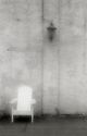PL12117-00...NORTH CAROLINA - Pinhole image of a chair along Wilmington's waterfront.