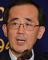 February 7, 2011, Tokyo, Japan - Bank of Japan Gov. Masaaki Shirakawa speaks during a lecture at Tokyo's Foreign Correspondents' Club of Japan on Monday, February 7, 2011. Shirakawa said the economy is moving closer to breaking out of its current lull. (Photo by Natsuki Sakai/AFLO) [3615] -mis-