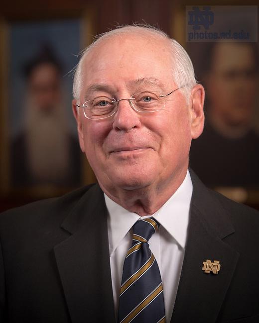 April 12, 2017; Douglass Hemphill, Emeritus faculty portrait (Photo by Matt Cashore/University of Notre Dame)