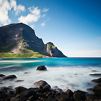 Bunes beach, Moskenesoy, Lofoten islands, Norway