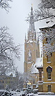 Jan. 22, 2013; Basilica Steeple after a snowfall...Photo by Matt Cashore/University of Notre Dame