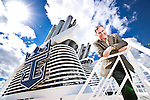 Royal Caribbean Cruise Lines CEO Richard Fain photographed about the 'Allure of the Seas' in Port Everglades, Florida