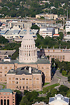 Austin Aerial Skyline, Texas State Capitol
