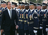 British Prime Minister David Cameron inspects the troops during an official arrival ceremony at the South Lawn of the White House March 14, 2012 in Washington, DC. Prime Minister Cameron is on a three-day visit in the U.S. and he was expected to have talks with President Obama on the situations in Afghanistan, Syria and Iran. .Credit: Mark Wilson - Pool via CNP