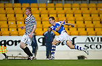 St Johnstone v Queens Park....25.09.12      Scottish Communities League Cup 3rd Round.Steven MacLean scores his second goal.Picture by Graeme Hart..Copyright Perthshire Picture Agency.Tel: 01738 623350  Mobile: 07990 594431
