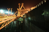 AL-BASRA OIL TERMINAL, IRAQ: A tanker is loaded with crude at the off shore loading facility at the Basra Oil Terminal..