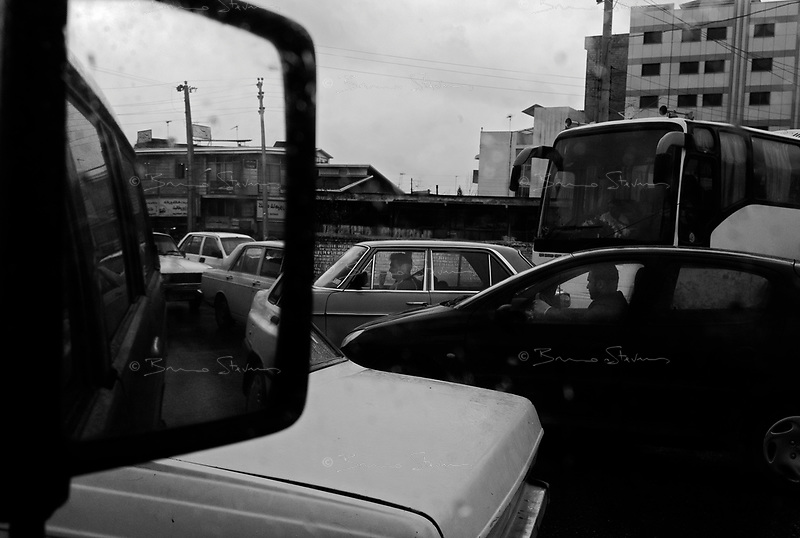Ghaemshahr, Iran, March 28, 2007.Unbelievable traffic jams are a plague of modern Iran...