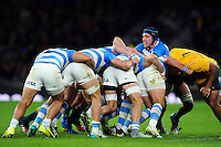 Guido Petti of Argentina in action at a maul. The Rugby Championship match between Argentina and Australia on October 8, 2016 at Twickenham Stadium in London, England. Photo by: Patrick Khachfe / Onside Images