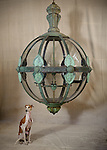 Giant lantern photographed for Matthew Cox Antiques, Stamford, Lincolnshire