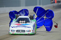 Nov. 13, 2011; Pomona, CA, USA; NHRA funny car driver Jack Beckman during the Auto Club Finals at Auto Club Raceway at Pomona. Mandatory Credit: Mark J. Rebilas-.