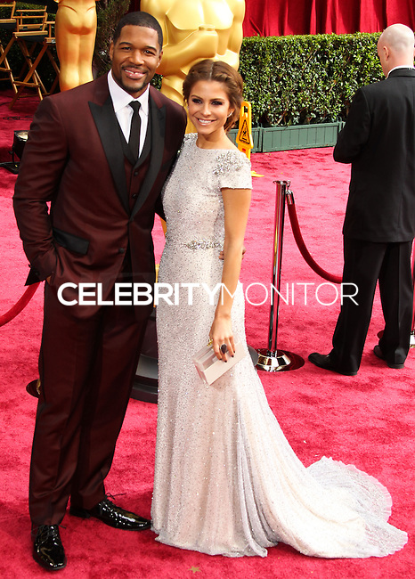 HOLLYWOOD, LOS ANGELES, CA, USA - MARCH 02: Michael Strahan, Maria Menounos at the 86th Annual Academy Awards held at Dolby Theatre on March 2, 2014 in Hollywood, Los Angeles, California, United States. (Photo by Xavier Collin/Celebrity Monitor)