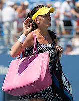 AGNIESZKA RADWANSKA (POL)<br /> The US Open Tennis Championships 2014 - USTA Billie Jean King National Tennis Centre -  Flushing - New York - USA -   ATP - ITF -WTA  2014  - Grand Slam - USA  27th August 2014. <br /> <br /> &copy; AMN IMAGES