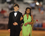 Junior maid Demiesha Coleman (left) is escorted by Zach Cain during Lafayette High vs. Byhalia in homecoming football action in Oxford, Miss. on Friday, September 24, 2010.