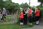 Hunting the Earl of Rone. Combe Martin Devon England.  2011. The Captin with some Grenadiers.