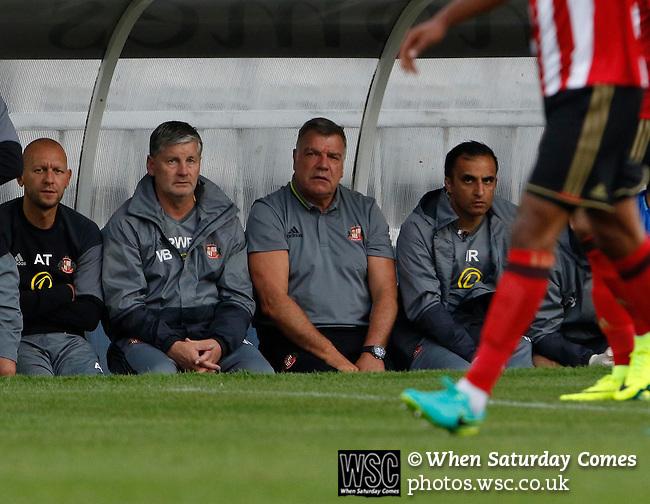 Hartlepool United 0 Sunderland 3, 20/07/2016. Victoria Park, Pre Season Friendly. Sam Allardyce Manager of Sunderland watches the game. Photo by Paul Thompson.